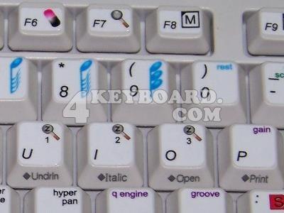 Apple Logic keyboard stickers