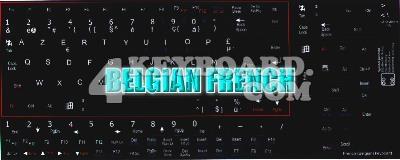 French Belgian Keyboard sticker