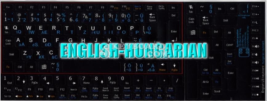 English Hungarian Keyboard Sticker
