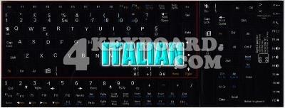 Italian Keyboard sticker