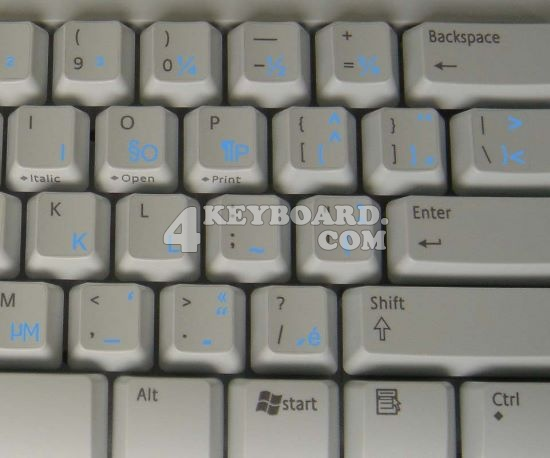 French QWERTY keyboard sticker