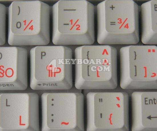 French QWERTY keyboard sticker