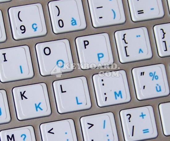Mac English - French AZERTY Keyboard sticker