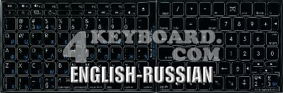Click to enlarge Mac English - Russian Cyrillic stickers