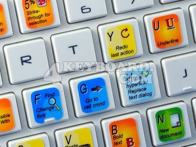 Microsoft Excel keyboard stickers