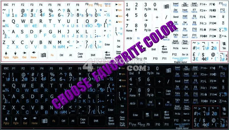 how to change the qwerty keyboard to french keys