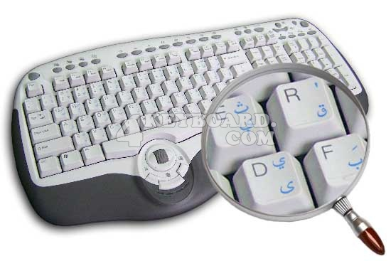 PASHTO TRANSPARENT KEY STICKER BLUE