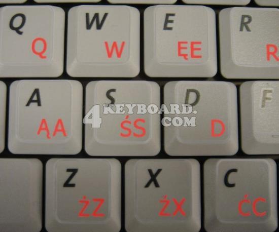 Polish keyboard sticker