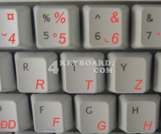 Romanian keyboard sticker