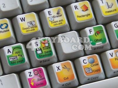 Google SketchUp keyboard stickers