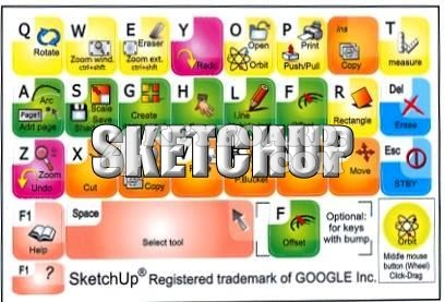 Click to enlarge Google SketchUp keyboard stickers