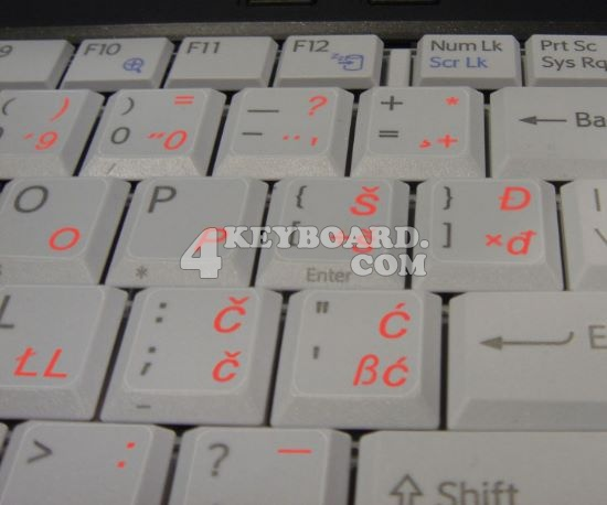 Croatian/Slovenian keyboard sticker