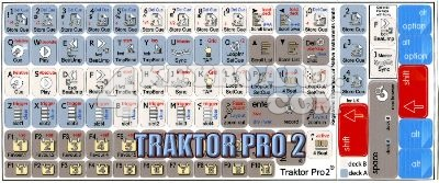 Click to enlarge TRAKTOR PRO2 keyboard stickers