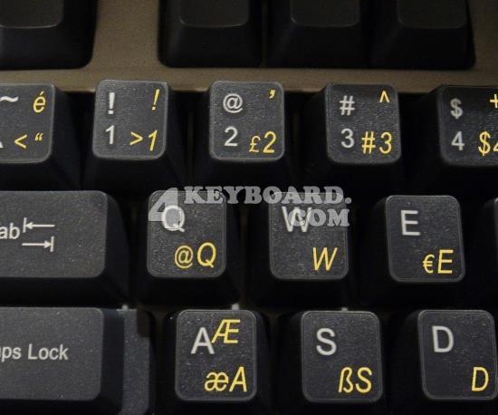 Turkish Q keyboard sticker